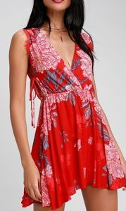 💃NWT💃Free People Marine Red Shift Dress